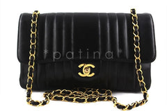 Chanel Black Mademoiselle Classic Medium Flap Bag - Boutique Patina  - 1