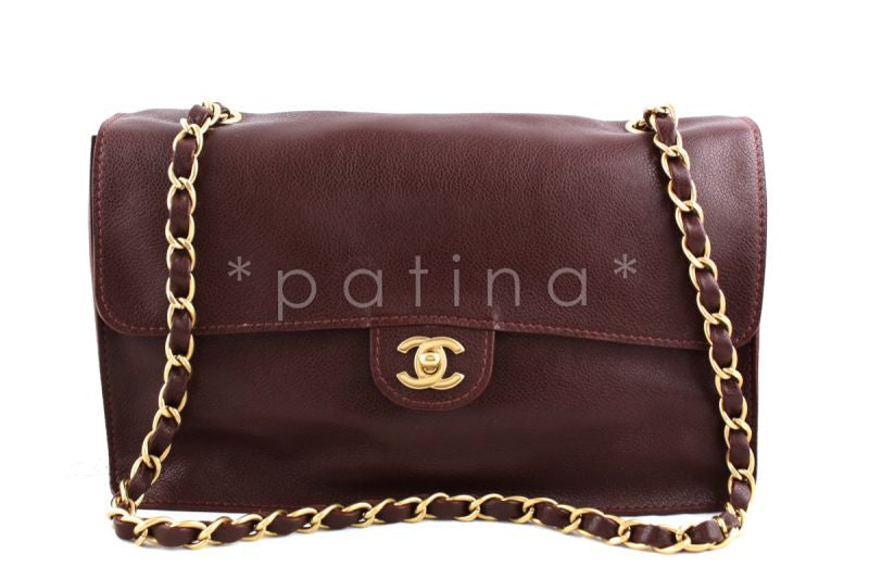 Chanel Chestnut Brown Soft Deerskin Timeless Classic Jumbo Flap Bag
