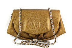 NWT 14C Chanel Gold Caviar Half Moon WOC Wallet on Chain Bag - Boutique Patina  - 1