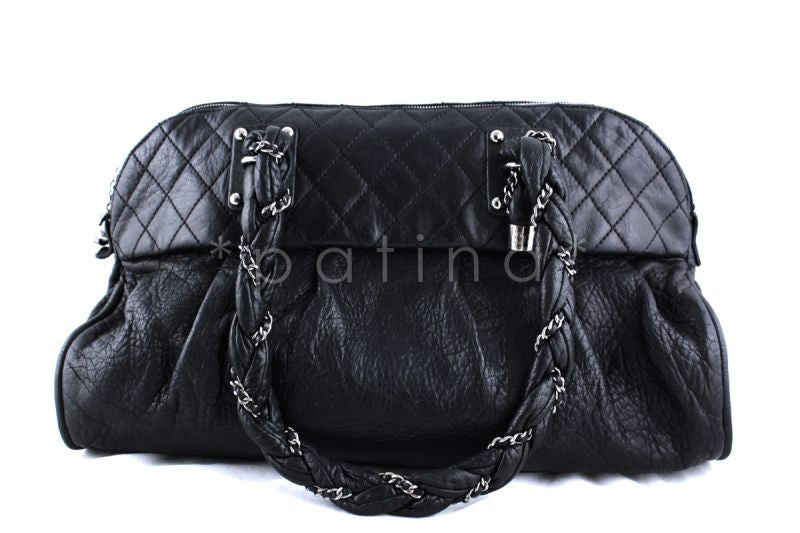 Chanel Black Soft Calfskin Large Lady Braid Tote Bag - Boutique Patina  - 1
