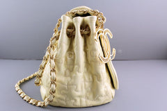 Chanel Ivory Jumbo Patent Puzzle Flap CC Charm Bag - Boutique Patina  - 2