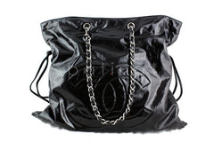 Chanel Black Patent Bon Bons Cabas Hobo Tote Bag - Boutique Patina  - 1