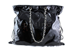 Chanel Black Patent Bon Bons Cabas Hobo Tote Bag - Boutique Patina  - 2