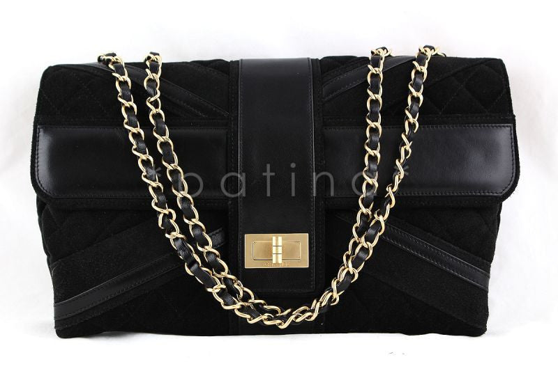 Chanel Black Limited Edition Union Jack Reissue Lock Flap Bag - Boutique Patina  - 1