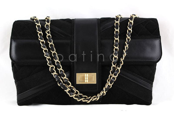 Chanel Black Limited Edition Union Jack Reissue Lock Flap Bag