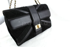 Chanel Black Limited Edition Union Jack Reissue Lock Flap Bag - Boutique Patina  - 2