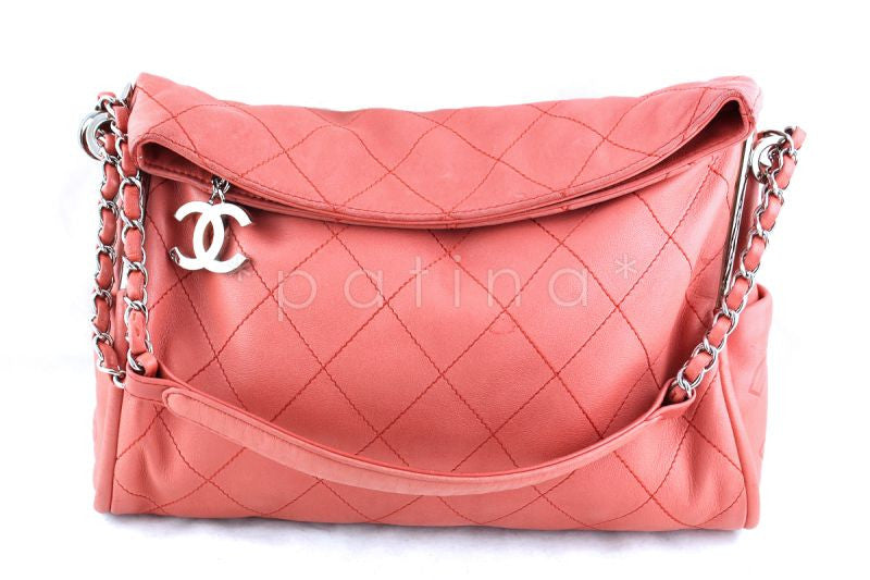 Chanel Coral Pink Lambskin Quilted Ultimate Soft Flap Bag