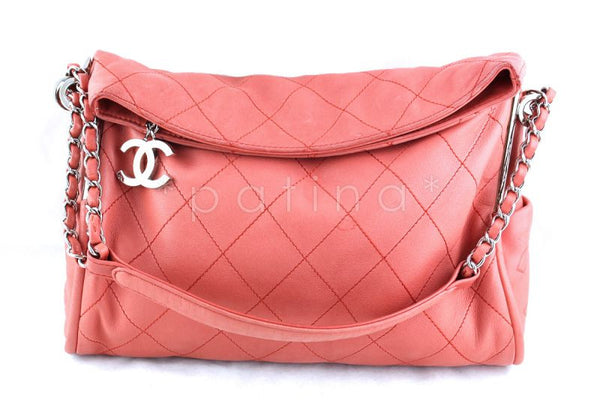 d0c3591ef84fdb Chanel Coral Pink Lambskin Quilted Ultimate Soft Flap Bag