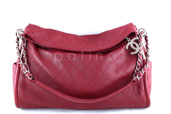 60d28ed3bf14ff Chanel 13in. Dark Red Lambskin Quilted Ultimate Soft Flap Bag