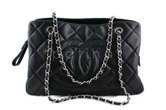 Chanel Black Caviar Quilted Timeless Grand Shopping Tote GST Bag - Boutique Patina  - 1