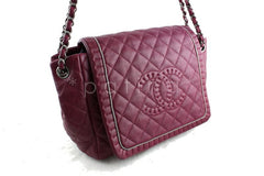 Chanel Dark Pink Istanbul Braided Chain Jumbo Flap Bag
