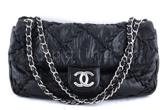 Chanel Black 12in. Jumbo Ultra Stitch Classic Flap Bag