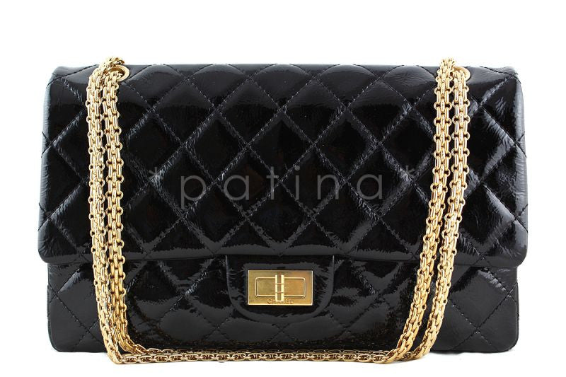 Chanel Black 12in. 227 Reissue 2.55 Jumbo Classic Double Flap Bag