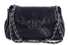 Chanel 13in. Jumbo Maxi Navy Large Sensual Collection Accordion Flap Bag - Boutique Patina  - 1