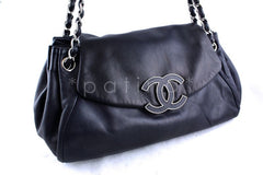 Chanel 13in. Jumbo Maxi Navy Large Sensual Collection Accordion Flap Bag - Boutique Patina  - 2