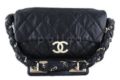 Chanel 10in. Black Lambskin Lady Braid Flap Bag - Boutique Patina  - 1