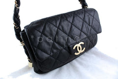 Chanel 10in. Black Lambskin Lady Braid Flap Bag - Boutique Patina  - 2