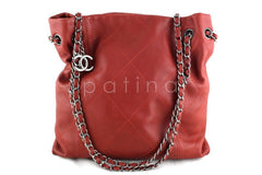 Chanel Brick Red Soft Drawstring Tall Hobo Tote Bag - Boutique Patina  - 1