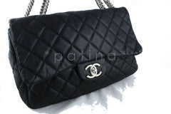 Chanel Black Lambskin Jumbo 2.55 Classic Flap Bag - Boutique Patina  - 2
