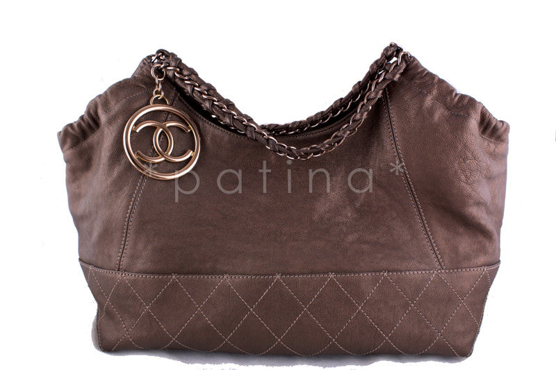 Chanel Bronze Coco Cabas Tote Bag, Rose Gold - Boutique Patina  - 1