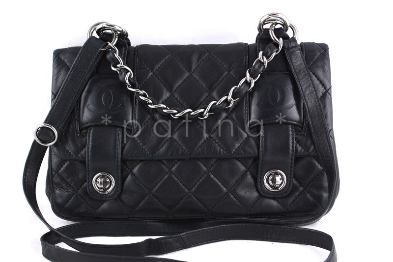 Chanel Black In the Mix Messenger Flap Bag