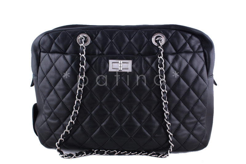 Chanel Black Rare Jumbo XL Reissue Camera Case, Coco Rain Bag