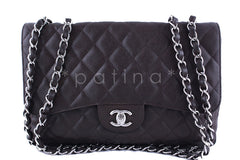 Chanel Dark Brown Caviar Jumbo 2.55 Classic Double Flap Bag - Boutique Patina  - 1