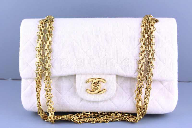 Chanel Medium-Large Ivory Classic 2.55 Flap Bag