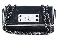 Chanel Black 10in. Flap, East West Giant Reissue Lock East West Bag - Boutique Patina  - 1