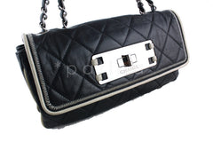 Chanel Black 10in. Flap, East West Giant Reissue Lock East West Bag - Boutique Patina  - 2