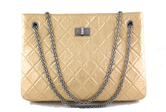 Chanel Pale Gold 2.55 Classic Large Reissue Shopper Tote Bag - Boutique Patina  - 1