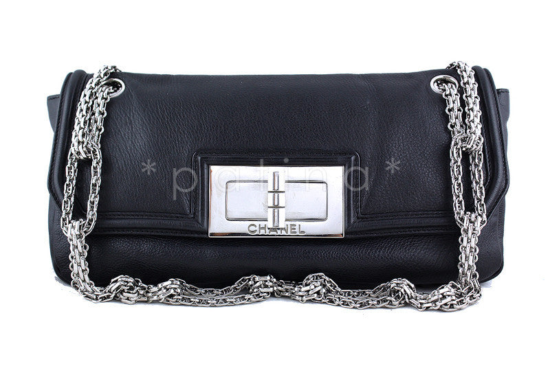 Chanel Black Giant Reissue Lock Linked Bijoux Chain Classic Flap Bag