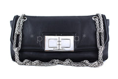 Chanel Black Giant Reissue Lock Linked Bijoux Chain Classic Flap Bag - Boutique Patina  - 1