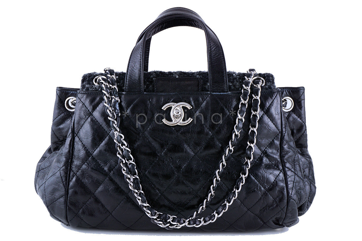 Chanel Black Tweed Classic Portobello Executive Tote Bag