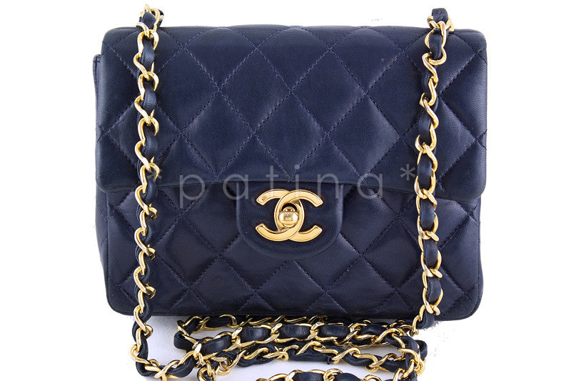 Chanel Navy Blue Classic Quilted Mini 2.55 Flap Bag