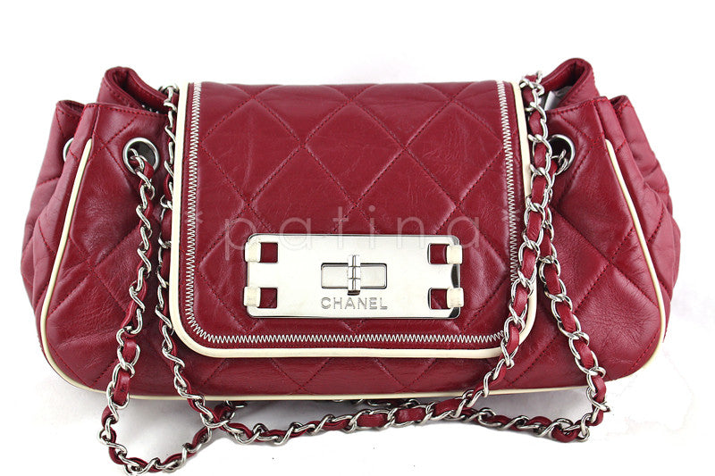 Chanel Red East West Quilted Reissue Flap Bag - Boutique Patina  - 1