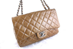 Chanel Camel Beige Patent  Jumbo 2.55 Classic Flap Bag - Boutique Patina  - 2