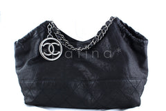Chanel Black Calfskin Coco Cabas Tote Bag Caviar - Boutique Patina  - 1