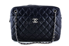 Chanel Navy Classic Large 2.55 Jumbo XL Maxi Camera Case Bag - Boutique Patina  - 1