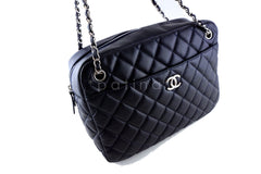 Chanel Navy Classic Large 2.55 Jumbo XL Maxi Camera Case Bag - Boutique Patina  - 2