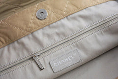 Chanel Beige Hobo Tote, Logo Classic Shopper Bag - Boutique Patina  - 9