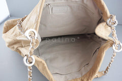 Chanel Beige Hobo Tote, Logo Classic Shopper Bag - Boutique Patina  - 10