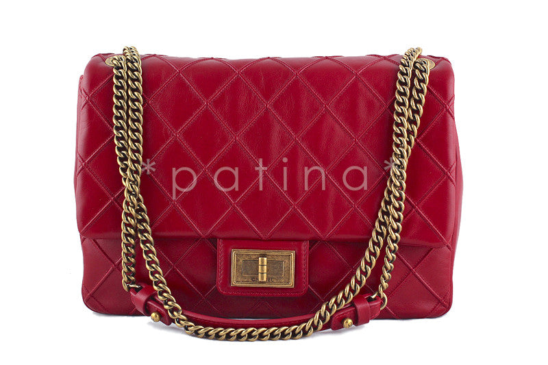 Chanel Red Jumbo Reissue Cosmos Flap Bag