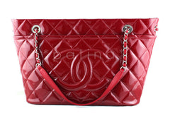 Chanel Red Patent Timeless Grand Shopping Tote GST Bag - Boutique Patina  - 1