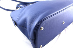 Hermes Brighton Blue Clemence 35/37cm Mou Bolide Bag - Boutique Patina  - 7