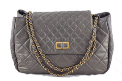 Chanel Reissue Maxi Flap Tote, Taupe Beige Two-Tone Bag - Boutique Patina  - 1