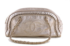Chanel Gold Distressed Luxury Ligne Bowler Bag - Boutique Patina  - 1