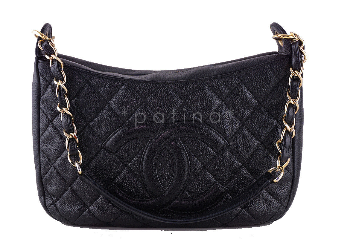 Chanel Black Caviar Quilted Camera Case Shopper Tote Bag - Boutique Patina  - 1