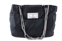 Chanel Giant Lock Luxury Tote, Black Mademoiselle Bag - Boutique Patina  - 2