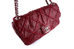 Chanel Red Jumbo Ultra Stitch Classic Flap Bag